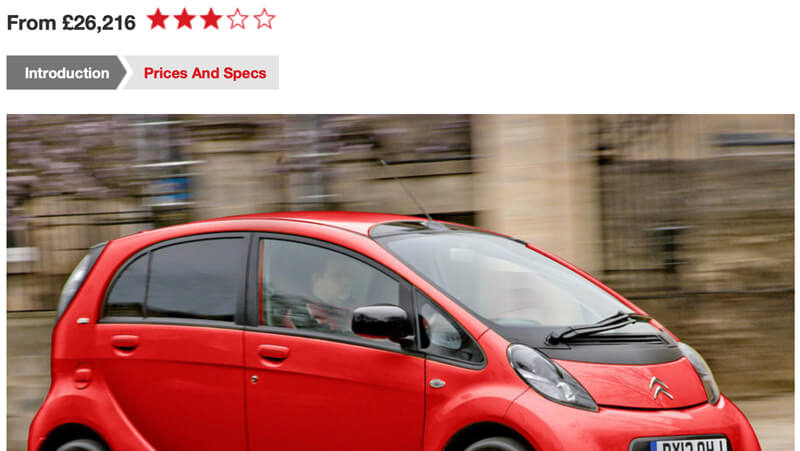 Citroen C-Zero Review Autocar