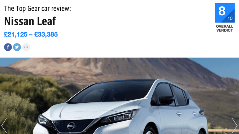 Nissan Leaf Review Top Gear