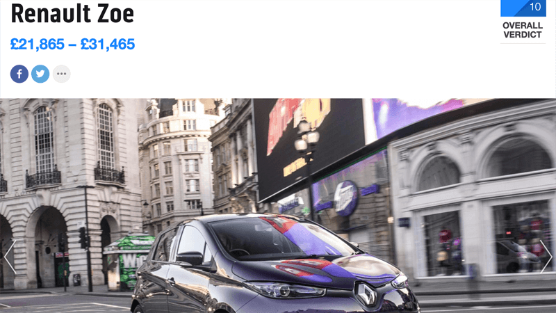 Renault Zoe Review Top Gear