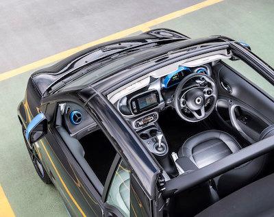 Smart EQ fortwo Cabrio Above