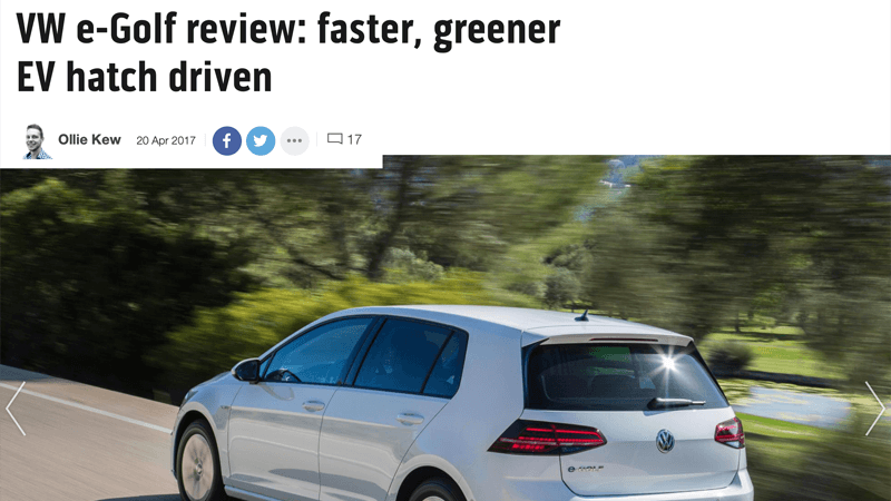 VW e-Golf Review Top Gear