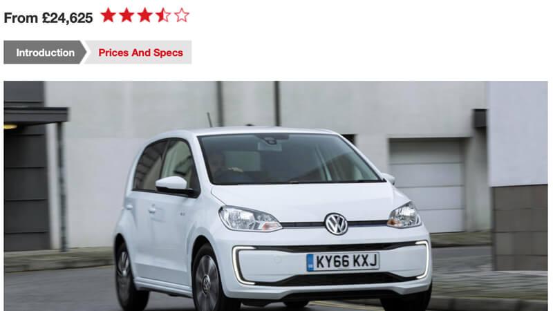 VW e-up Review Autocar