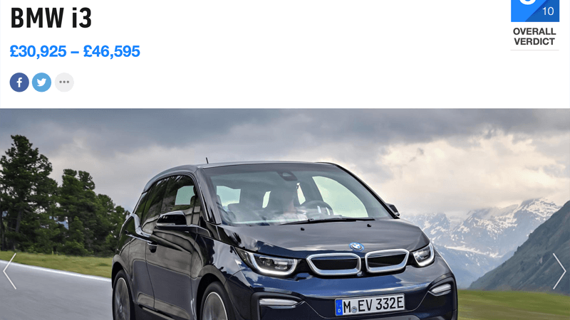 BMW i3 Review Top Gear