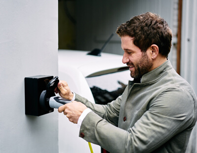 Home electric car charging point