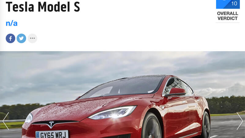 Tesla Model S Review Top Gear