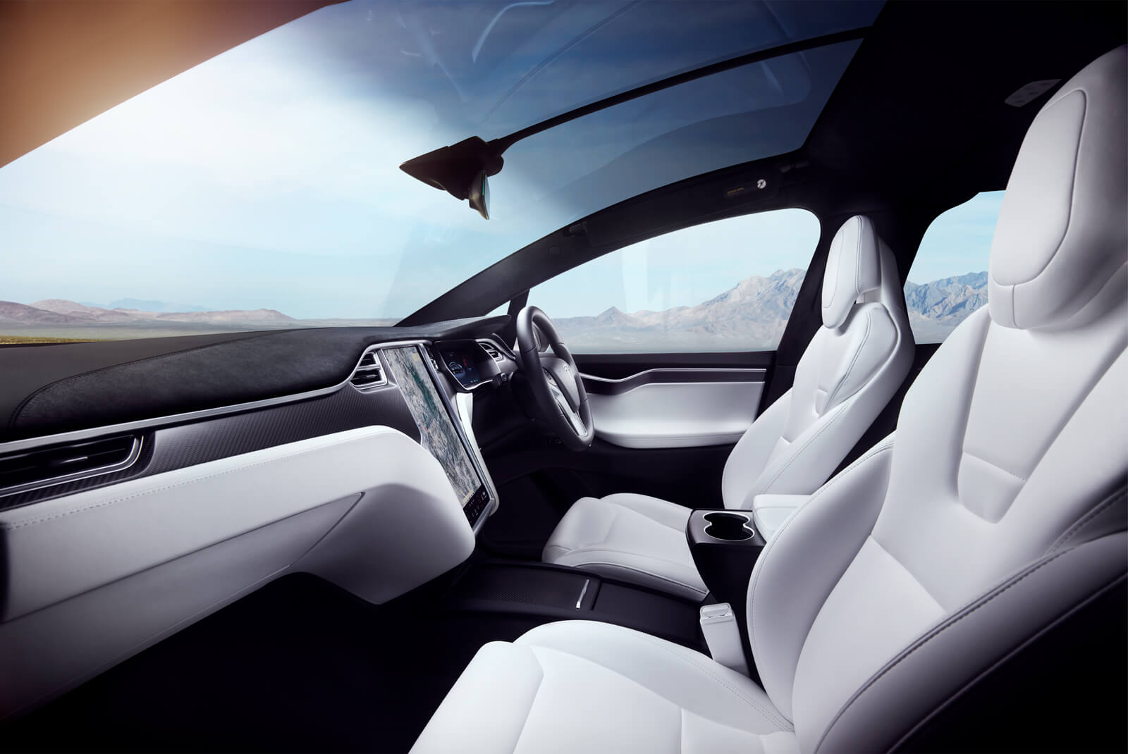 Tesla Model X Interior Front