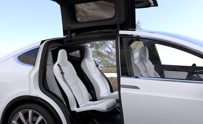 Tesla Model X Interior Rear