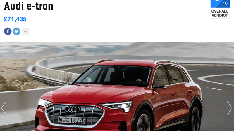 Audi e-tron 55 quattro Review Top Gear