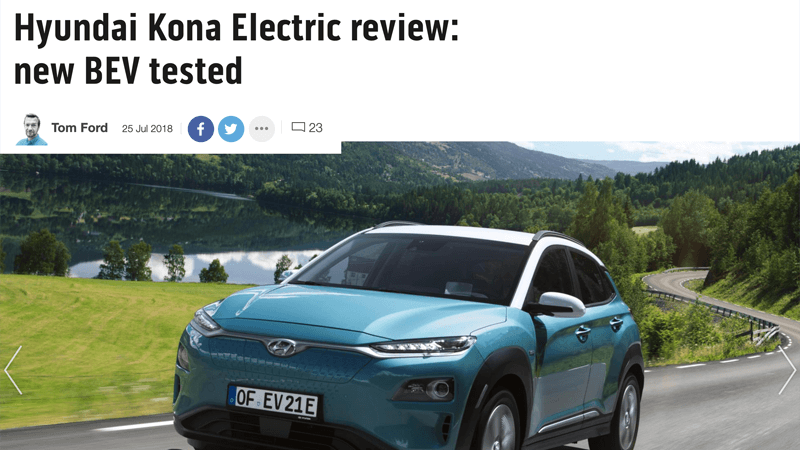 Hyundai Kona Electric Review Top Gear