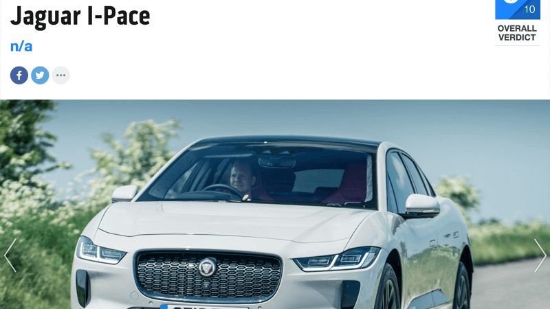 Jaguar I-Pace Review Top Gear