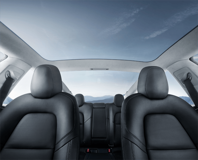 Tesla 3 Panoramic Sunroof