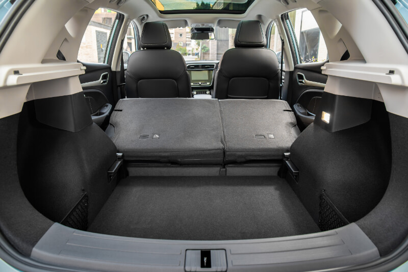 Boot with seats folded down