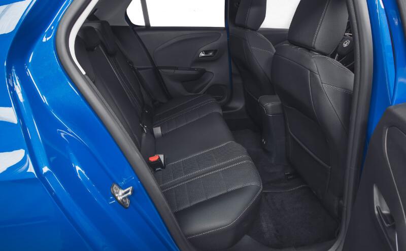 New Corsa e Rear Seats