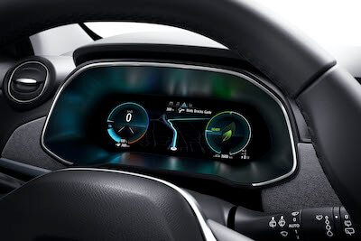 10-inch driver's display